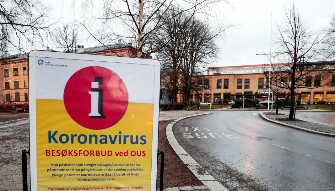 Den siste tiden har det vært besøksforbud både ved Ullevål sykehus og de øvrige virksomhetene til Oslo universitetssykehus.