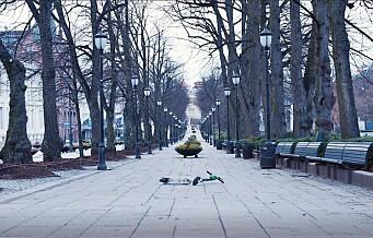 Et Oslo i lockdown, en uvirkelig stemning. Se videoen