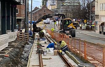 Fortsatt anleggsdrift i alle Sporveiens prosjekter