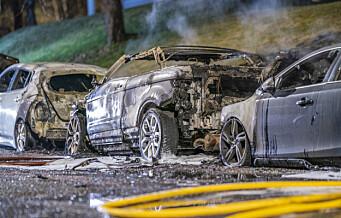 – 23 biler brent på en uke: Det må bli større risiko for å bli tatt