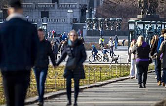 Finvær i Oslo – mye folk ute på tur