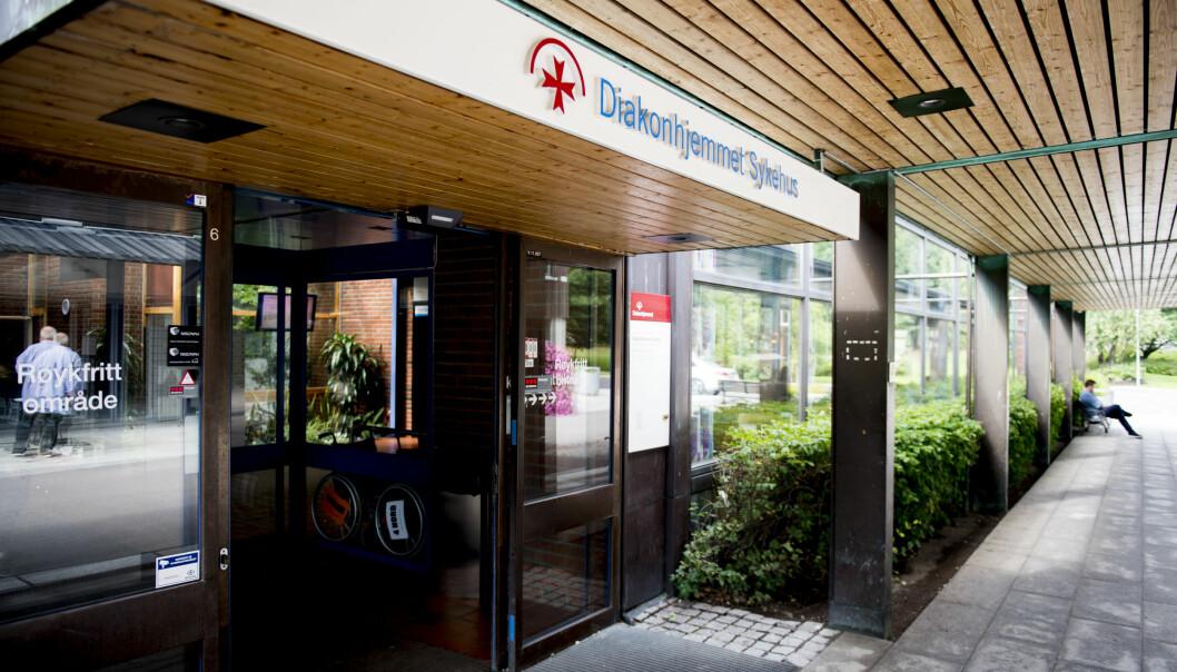 En pasient som var smittet av koronaviruset, døde på Diakonhjemmet sykehus i Oslo denne uken.