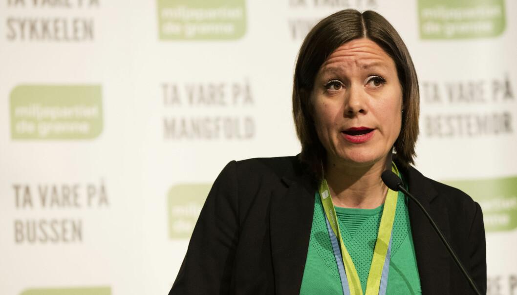 Lillehammer 20170520. Miljøpartiet De Grønnes landsmøte på Lillehammer 2017. Hanna Marcussen i debatt før votering på MDG-landsmøtet på Scandic Lillehammer Hotel.