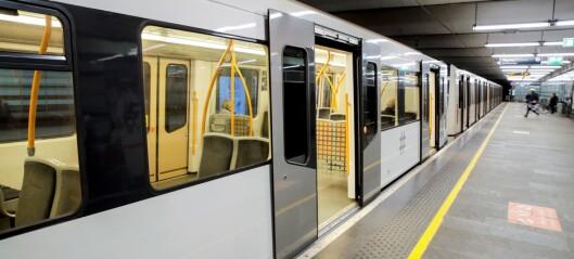 Ingen T-bane gjennom Oslo sentrum på kveldstid de neste ukene