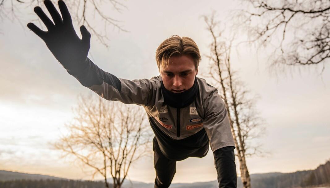 Christian Dahle Borchgrevink savner lagkamerater og treneren mens han holder formen på egenhånd ved Sognsvann.
