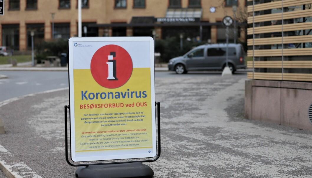 Den planlagte aktiviteten ved Oslo universitetssykehus har blitt redusert med 25 prosent siden koronautbruddet.