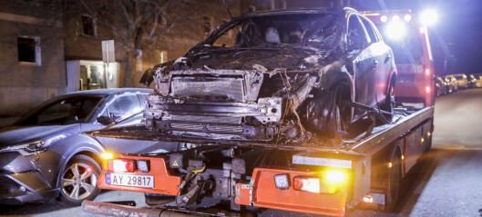 Politiet utelukker ikke at bilbrann på Oppsal var påtent