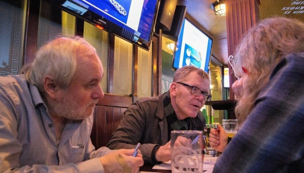 Før korona og skjenkestopp: Trygve Grans Skiskole på quiz ved Grünerløkka-puben O`Reilly`s i Markveien
