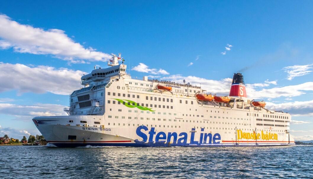 "20180817 MS ""Stena Saga"" fra Stena Line, på vei til Oslo. Foto: Halvard Alvik, NTB scanpix"