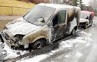 Politiet etterforsker to bilbranner på Majorstuen