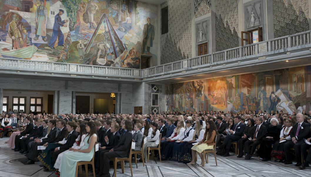 Rådhuset i Oslo tilbyr en fantastisk ramme rundt konfirmasjonen.