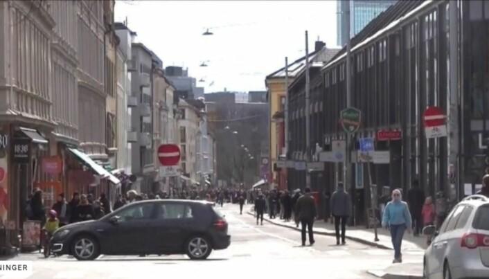 Dette bildet viser Markveien når det ikke er zoomet inn, ifølge Dagbladet.