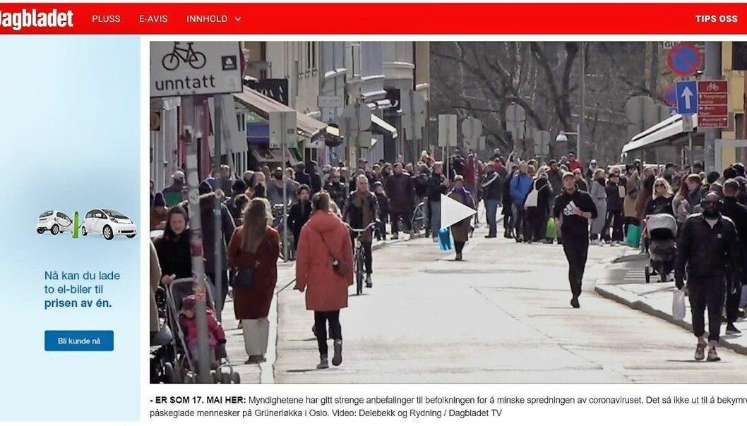 Slik viser Dagbladet frem folkelivet i Markveien lørdag.