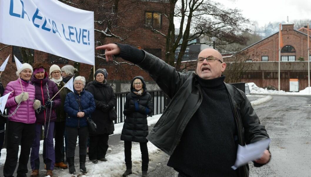 """Miljøforeningen Akerselvas venner og Are Eriksen kaller utbyggingen for et """"miljøpolitisk skandaletårn""""."""