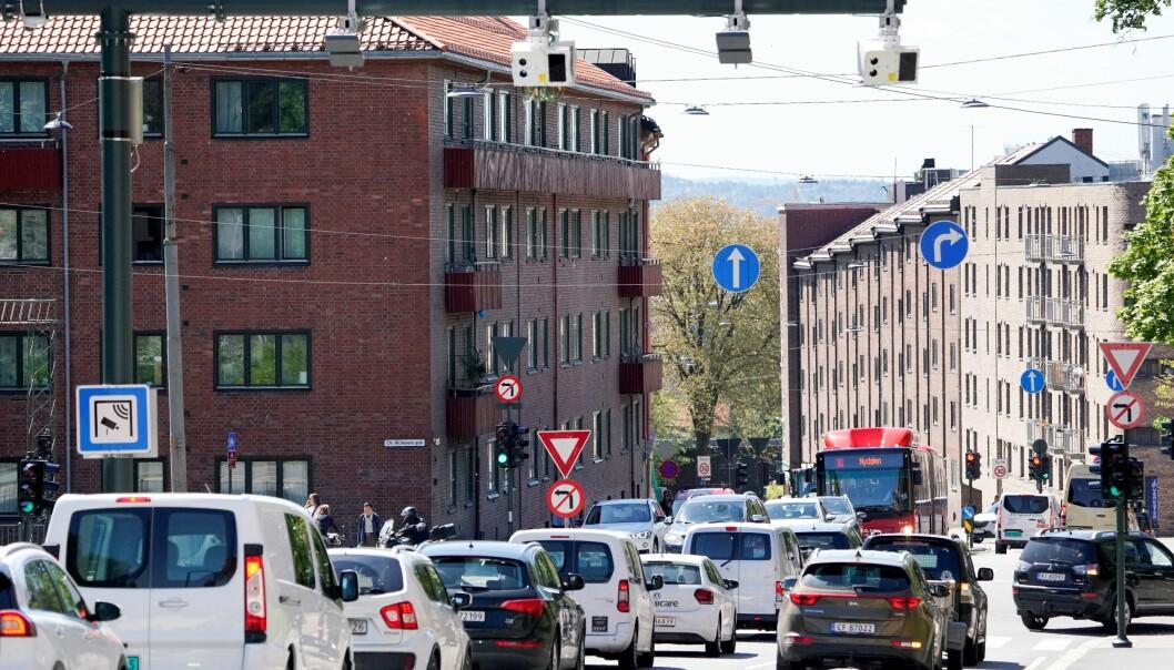 Passeringer med personbil gjennom bomstasjonen i Fagerheimgata og det øvrige bomsystemet i Oslo gikk kraftig ned med koronatiltak.