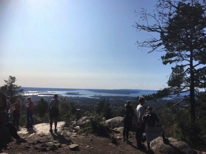 Her er Aktiv hverdag-gruppen på tur i Oslomarka. Foto: Christian Ydse og Ida Mørk Alviniussen