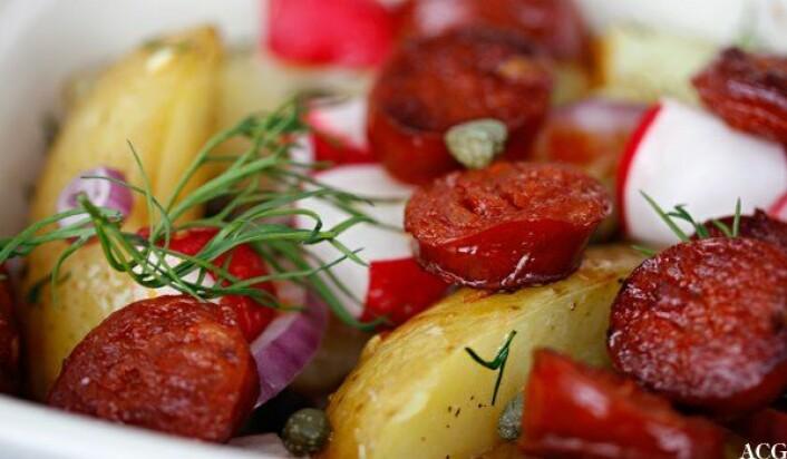 Chorizo og potet. Foto: Tore Andvig