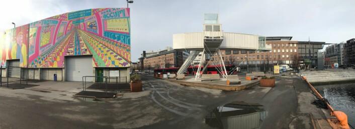 Panoramabilde av parken fra sjøsiden. Foto: Trude Thingelstad