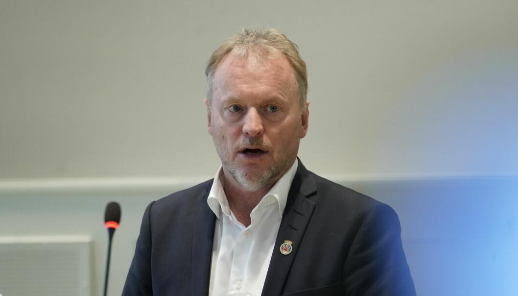 Byrådsleder Raymond Johansen på pressekonferansen onsdag.