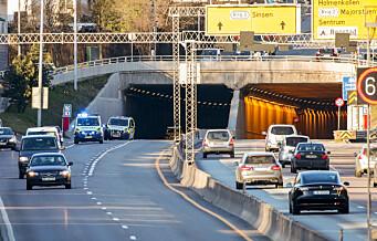 Motorsyklist alvorlig skadd i ulykke i Smestadtunnelen