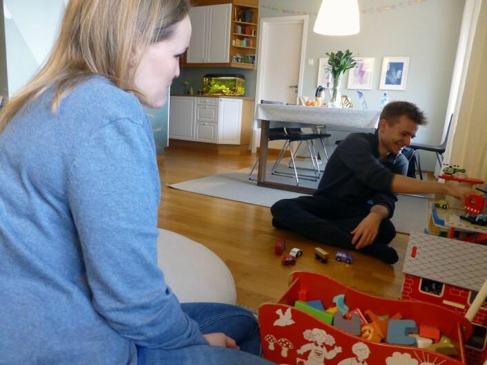 I dag er Liv (29) og Stian (28) fosterforeldre for en toåring. Foto: Katarina Louise Nordam