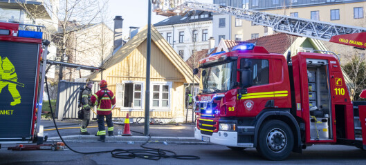Mann døde etter brann i eldre trehus i Gamlebyen