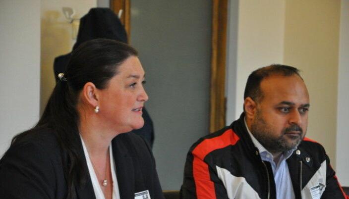 Silvia Fartum og Nadeem Asghar, som driver nabostedet Fontes, vis-a-vis Grünerhaven ved Olaf Ryes plass.