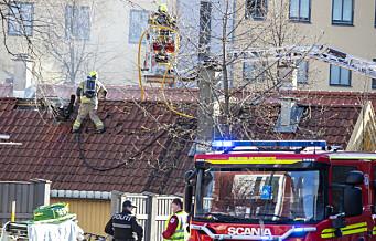Brannvesenet kritisk til filming av dødsbrann i Gamlebyen