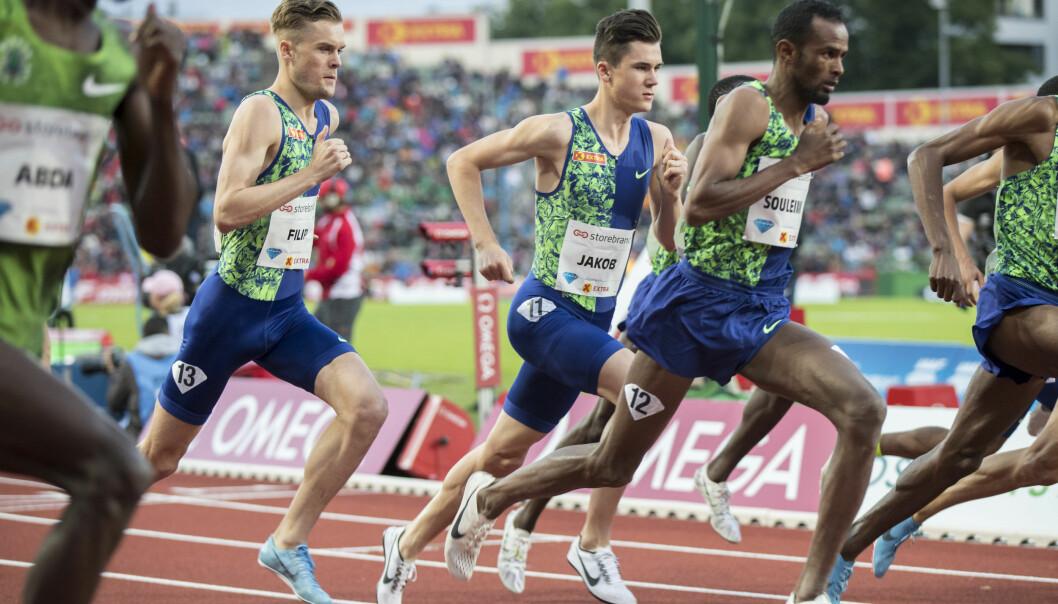 Filip og Jakob Ingebrigtsen under fjorårets Bislett Games.