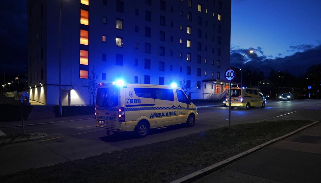 Mannen i midten av 40-årene ble pågrepet i en leilighet i nærheten av der den skadde ble funnet.