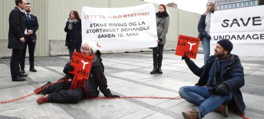 Y-blokk-aksjonister fjernet av politiet i Oslo