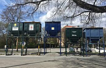 – Hvorfor står det fem stygge sandsiloer plassert foran Botanisk hage?