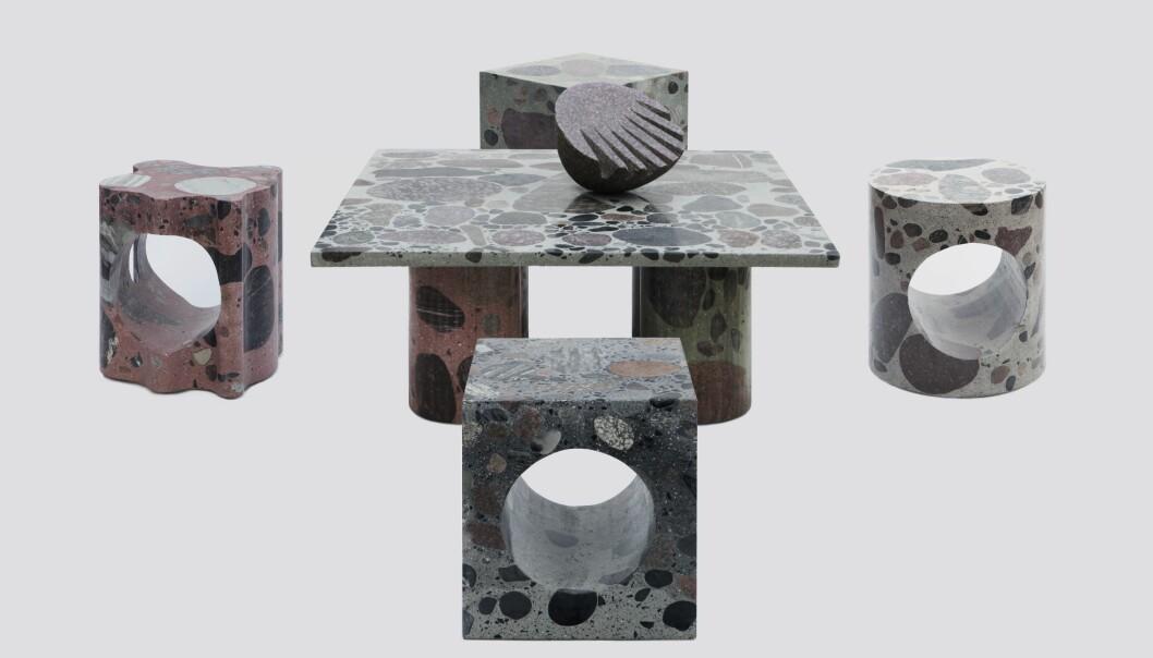 Sittegruppen til kunstner Tron Meyer er kjøpt inn. En steinskulptur som hyller norsk brutalistisk arkitektur fra 1950- og 60-tallet.