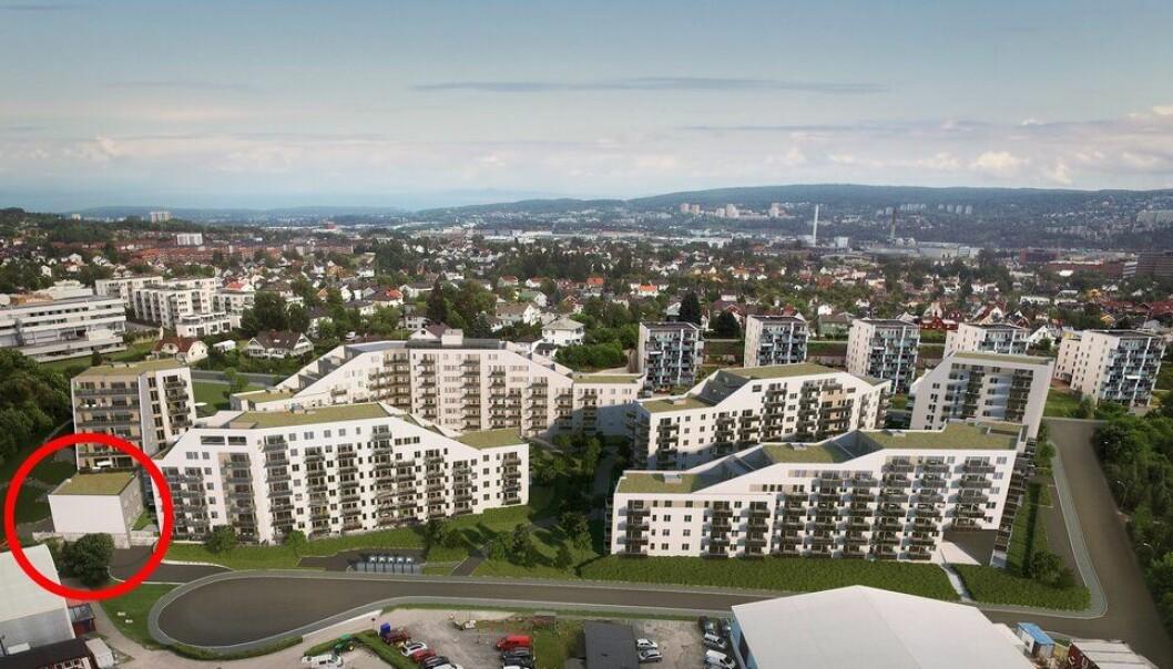 Innringet er Espira-barnehagen i Nybyen på Økern, som Oslo kommune nå kjøper for 65 millioner kroner.