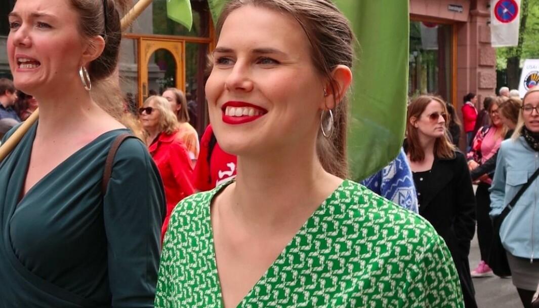 Sirin Hellvin Stav. Hun har lang lokalpolitisk erfaring, og har sittet som gruppeleder for MDG i Oslo inneværende periode. Før det var hun leder for Sagene MDG.