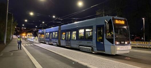 Trikken tilbake igjen mellom Storo og Kjelsås: - Trikken betyr mye for folk i byen