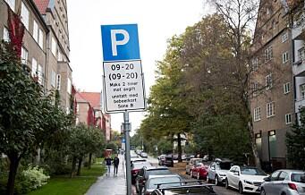 - Dyrere beboerparkering for bensin- og dieselbiler, foreslår Ap/SV/MDG-byrådet