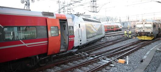 Avsporing ved Oslo S i fjor skyldes feil på sporet