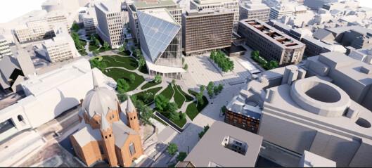 Slik skal det se ut når Y-blokka er revet: - Ser mer ut som en skråning enn en park