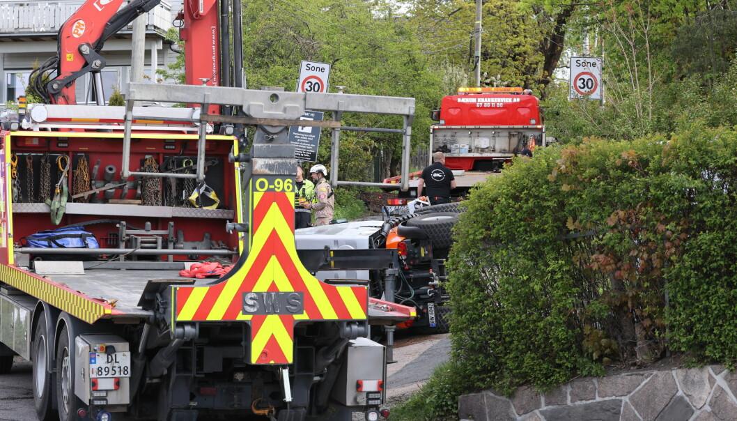 Det er uklart hva som skjedde da en mann omkom i arbeidsulykken i Lilleakerveien.