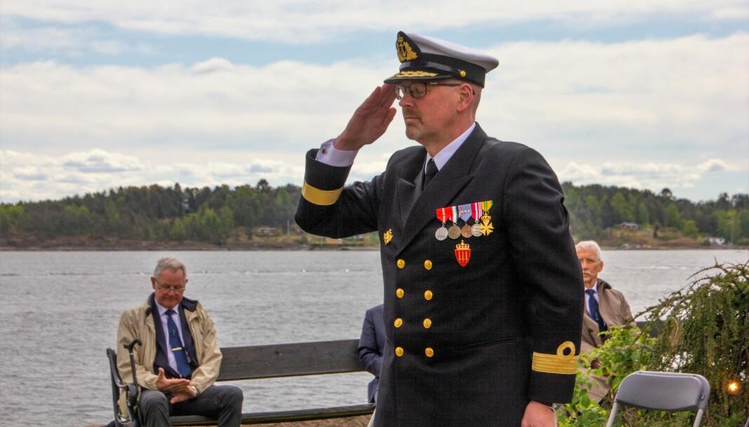 Flaggkommandør Bjørn-Erik Marthinsen minnet om at mange måtte kjempe en kamp med seg selv etterpå.