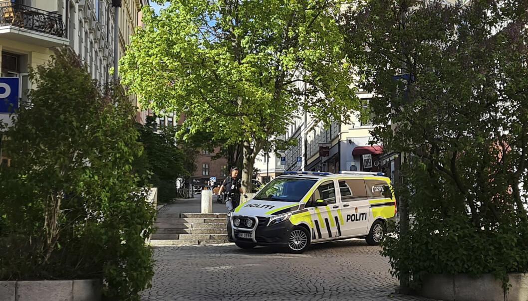 Politiet rykket ut til Bislett lørdag ettermiddag.