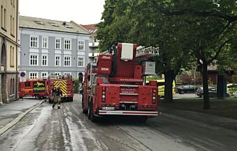 Full mobilisering i Dannevigsveien ved Sagene kirkepark