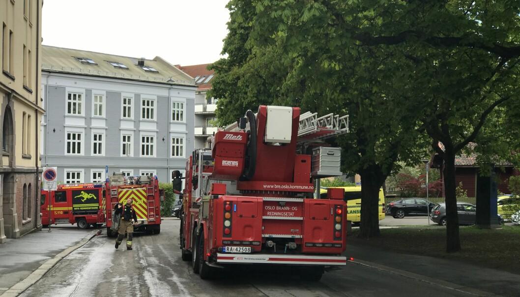 Full utrykning til Dannevigsveien ved varsel om brann.
