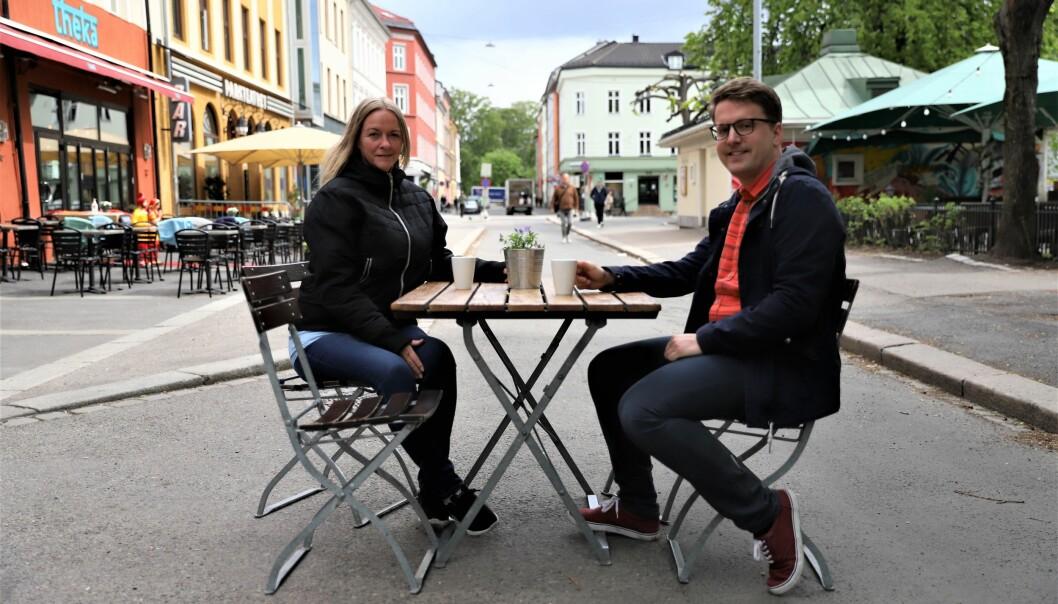 Om Laila Ødegård og Geir Storli Jensen får viljen sin, vil Grüners gate snart være endel av restauranttilbudet på løkka.