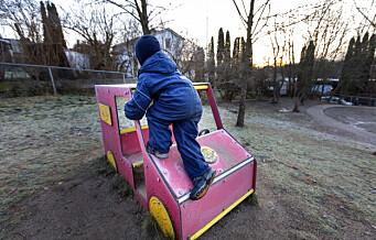 Forskere slår alarm om uteareal for barnehagebarn i Oslo