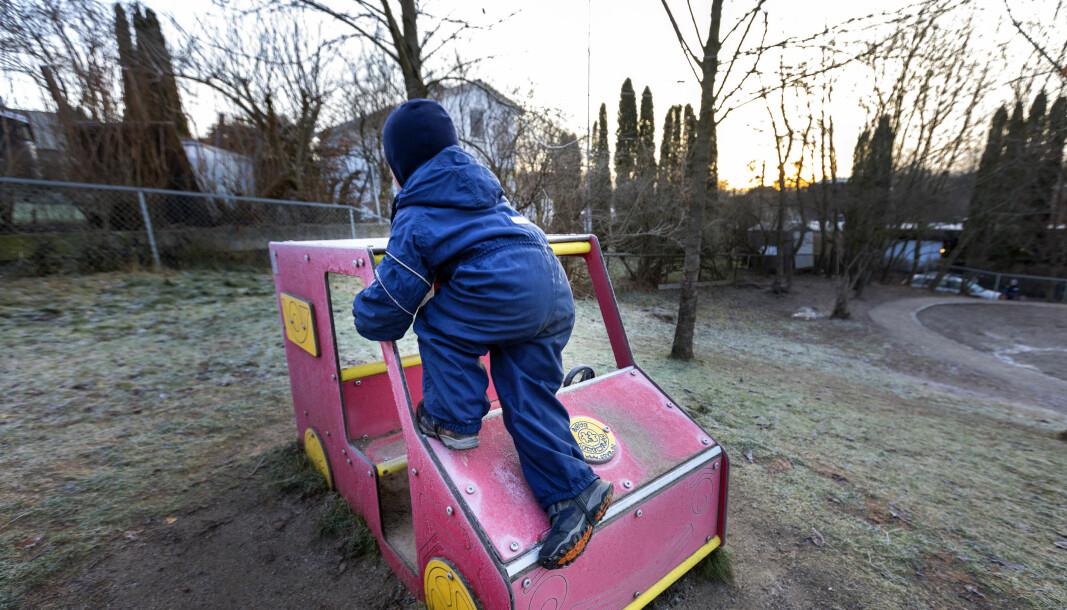 Forskere anbefaler 30 kvadratmeter uteareal per elev i grunnskolen. I Oslo er gjennomsnittet 13,3 i de ni seneste byggeprosjektene for barne- og ungdomsskoler.