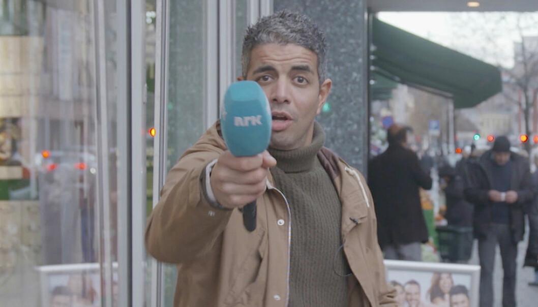 Svart Humors Yousef Hadaoui har fått mang en seer til å knekke sammen av latter etter intervjuer gjort med oslofolk på Grønland.