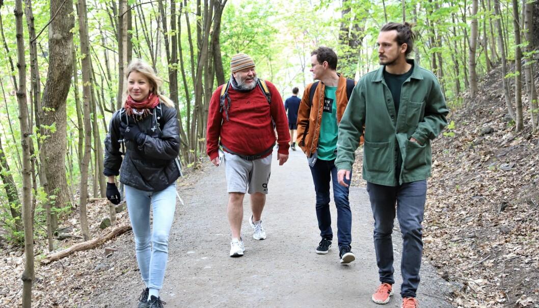I Ekebergparken finner man mange vekster som passer utmerket inn å både mat og drikke. Bonusen er trim og fin utsikt over Oslo.