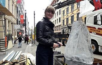 Bilfritt byliv betaler for fem nye skulpturer i Øvre Slottsgate